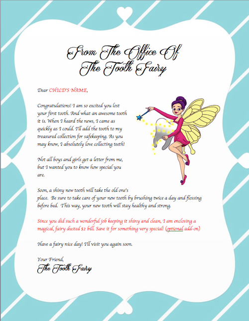 37 Tooth Fairy Certificates & Letter Templates